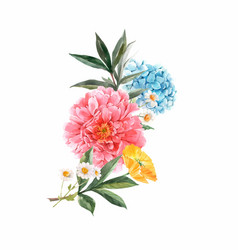 beautiful floral bouquet composition vector image