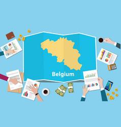 Belgium economy country growth nation team vector