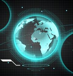 bg world vector image