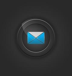 Black button envelope email vector image