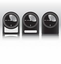 black clocks vector image