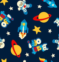 Blast off seamless pattern vector image