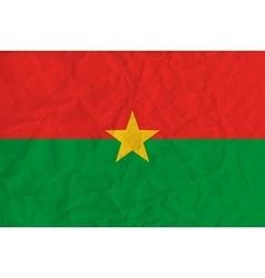 Burkina Faso paper flag vector image