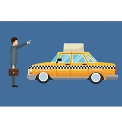 Cab car passenger user service public vector
