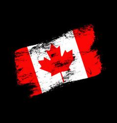 Canada flag grunge brush background old brush vector