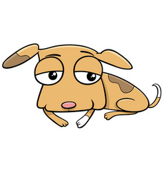cartoon funny spotted puppy animal character vector image