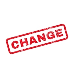 Change Text Rubber Stamp vector