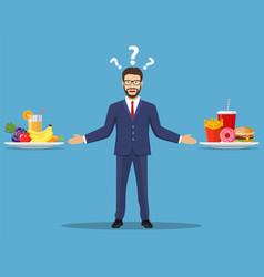 Choice businessman vector