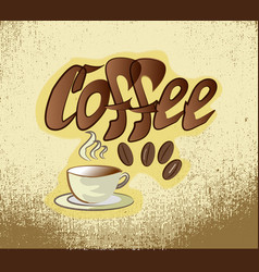 coffee banner sketch vector image