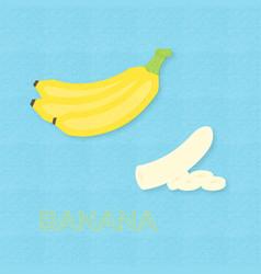 creative banana fruits and bananas sliced vector image