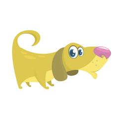 cute basset hound dog cartoon vector image