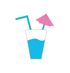 delicious water glash to refresh the day vector image