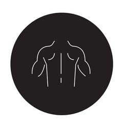 developed musculature black concept icon vector image