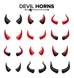 devil horns set good for halloween party vector image