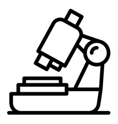 Digital microscope icon outline style vector