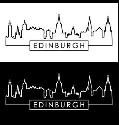 edinburgh skyline linear style editable file vector image