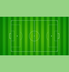 European football soccer field on horizontal vector