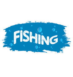 fishing and water drops vector image