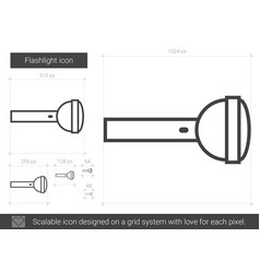 Flashlight line icon vector