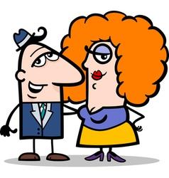 Funny man and woman couple cartoon vector