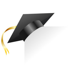 graduation cap element for degree ceremony and vector image