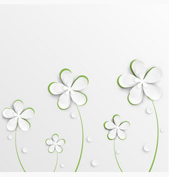 greeting card background with derived paper vector image