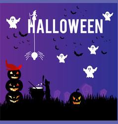 Halloween social media post templates vector
