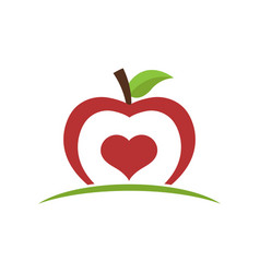Healthy food apple icon vector