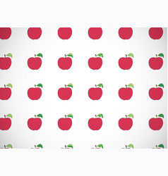 Horizontal card pattern with cartoon red apples vector