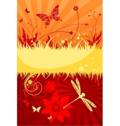 Hot summer background vector image