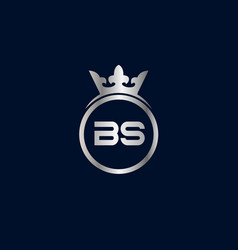 Initial letter bs logo template design vector