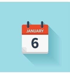 January flat daily calendar icon date vector