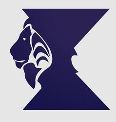 king logo lion vector image