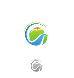 leaf dental vector image