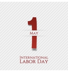May 1 Banner International Labor Day vector image