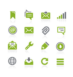 Messages icons natura series vector
