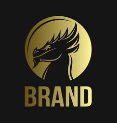 modern majestic dragon logo vector image