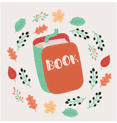 Open book with vector
