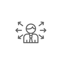 Opportunities outline icon elements business vector