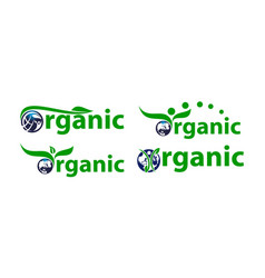 organic letter template set vector image