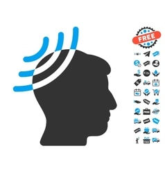 Radio Reception Head Icon With Free Bonus vector