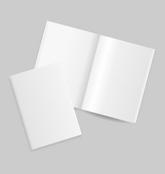 realistic detailed 3d blank magazine template open vector image