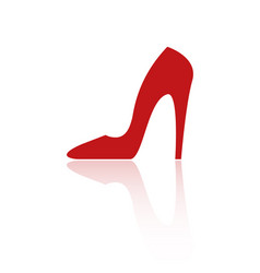 red heel icon vector image