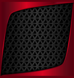 Red metal plate Black metal background vector