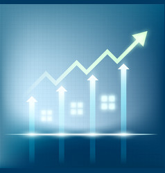 sales of real estate vector image