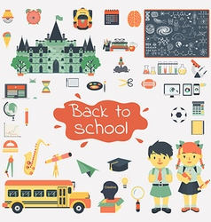 School and education set vector