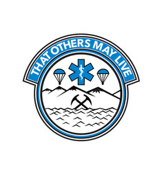 sea air land rescue badge vector image