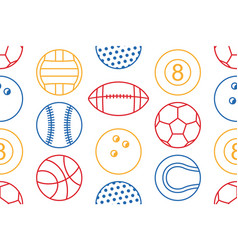 seamless pattern with collection of colorful spor vector image