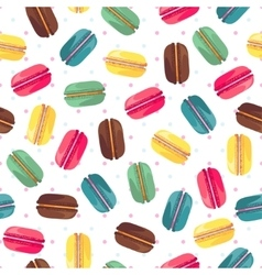 Seamless pattern with tasty donuts vector image