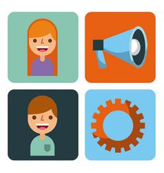 set of business element app design vector image